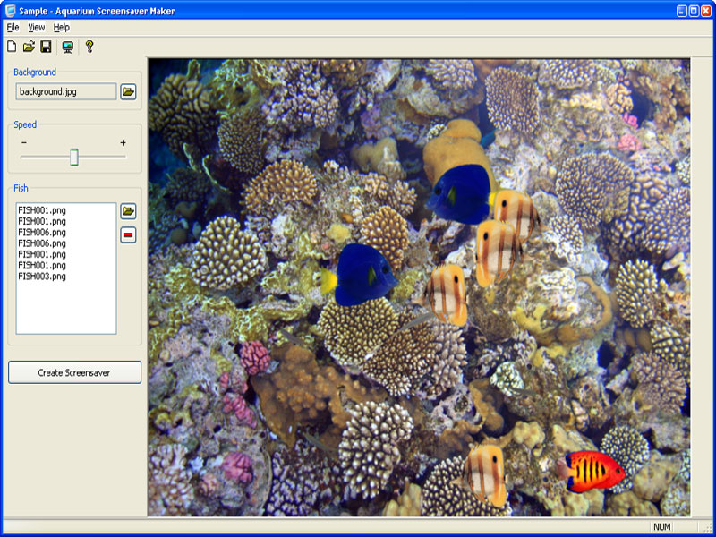 Aquarium Screensaver Maker screenshot