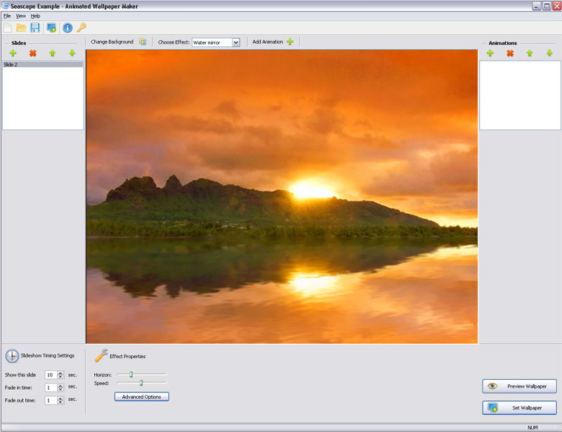 Click to view Animated Wallpaper Maker 3.2.3 screenshot